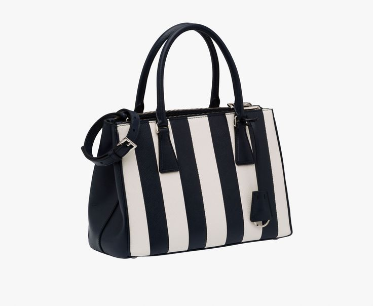 ... czech clearance prada galleria saffiano leather bag with a vertical  stripe motif detachable adjustable leather shoul 94263047db7bb