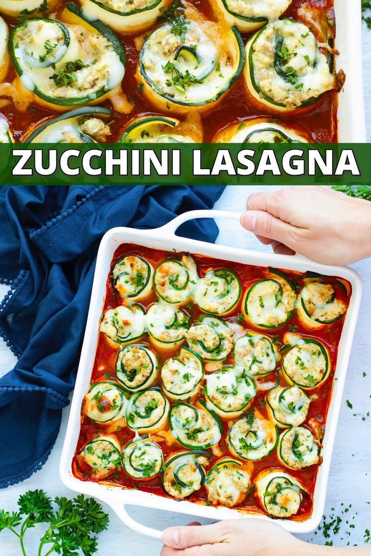 Zucchini Lasagna Roll-Ups | Keto + Low-Carb