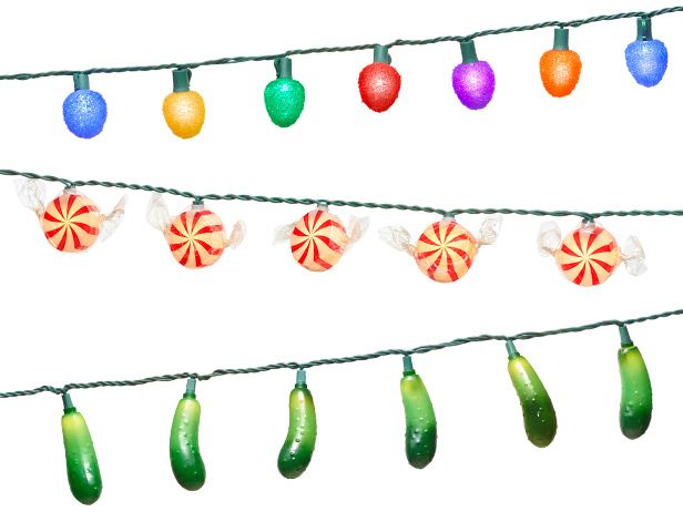 Trade your traditional holiday lights for a string of fun food-themed ones from Food Network Magazine.