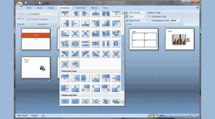 Microsoft PowerPoint 2007 pt 1 (Add slide, pictures, sound, video, theme...