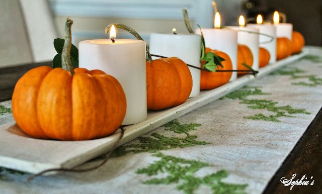 17 best images about thanksgiving on pinterest for Simple pumpkin centerpieces