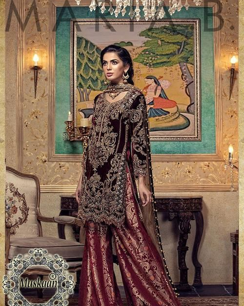 71b9ebb494 Maria B Darya-e-Noor Velvet Collection (Replica)(Unstitched ...