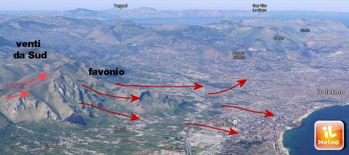 A Palermo farà CALDO per effetto favonico: ma di cosa si tratta?