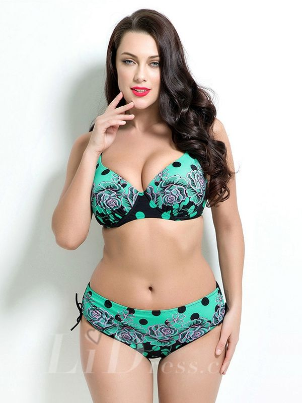 High Waist Print Plus Size Bikini Lidyy1605201020