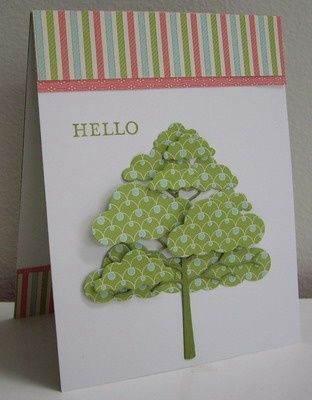 Stamping with Loll: Cloudy Polka-dot Tree - made with cloud dies (June 2012)