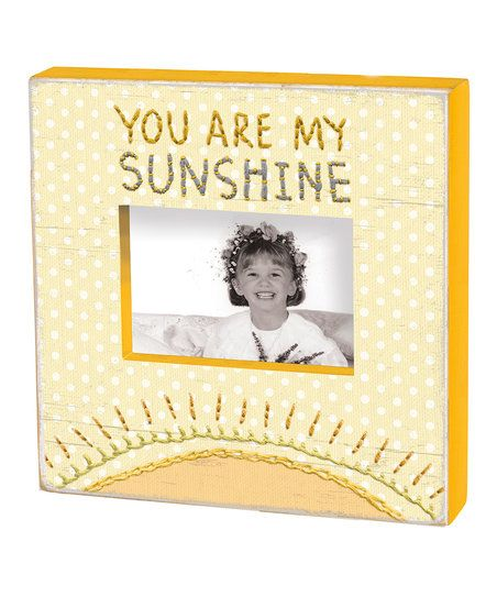 Primitives by Kathy Yellow You Are My Sunshine Box Frame | zulily