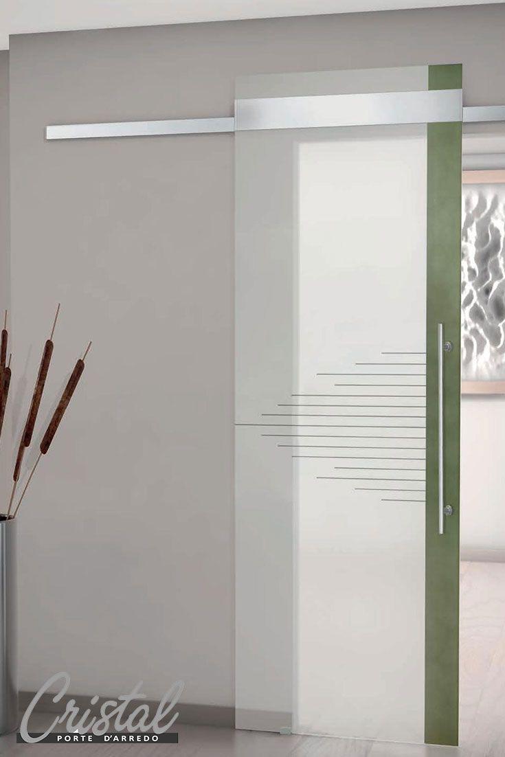 Betonica la porta in vetro stratificato cristal nel for Porte scorrevoli esterno muro ikea