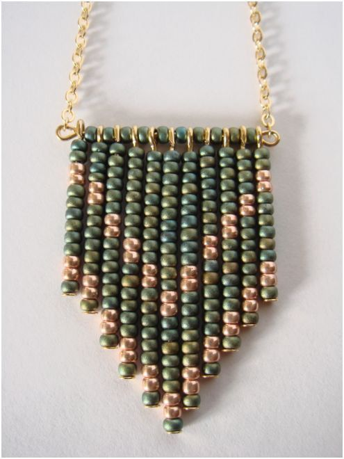 Multi beaded drops with chevron pattern