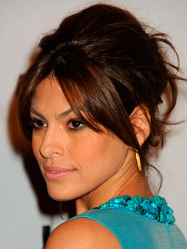 Peachy 1000 Images About Eva Mendes Updos For Long Hair On Pinterest Short Hairstyles For Black Women Fulllsitofus