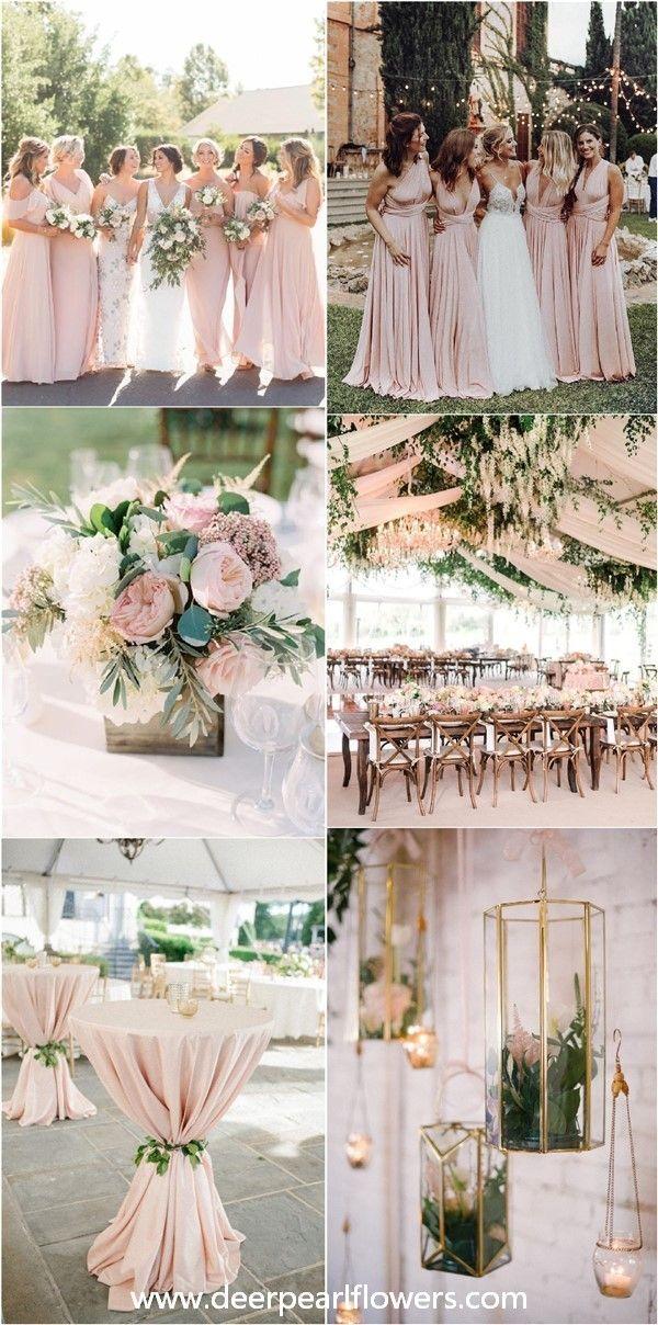 28 Blush Pink and Greenery Kleurideeën voor het huwelijk