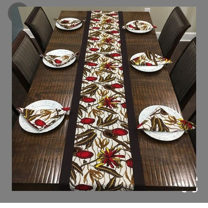 African Print Tablecloth African Print Table Runner Ankara Tablecloth Dining Tablecloth Set African Inspired Decor Printed Table Runner African Home Decor