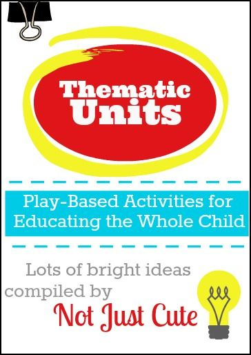 Looking for some inspiration for your lesson plans?  Or just some fun activities for this afternoon?  This might help!  (And it's FREE!) Thematic Units for the Preschool Classroom - Not Just Cute