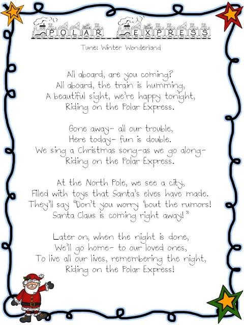 polar express song tune winter wonderland - Polar Express When Christmas Comes To Town Lyrics