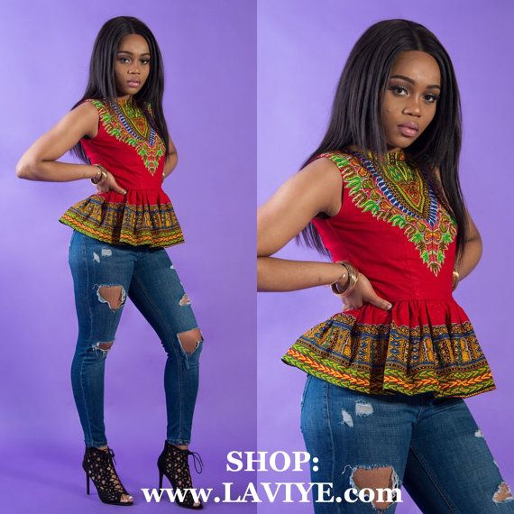 Dashiki shirt Dashiki for women African clothing Dashiki by Laviye