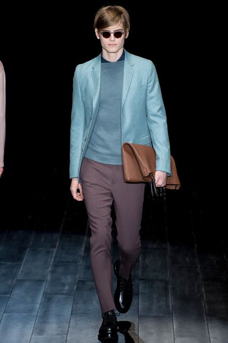 Beautiful colors! Gucci Fall-Winter 2014 Men's Collection