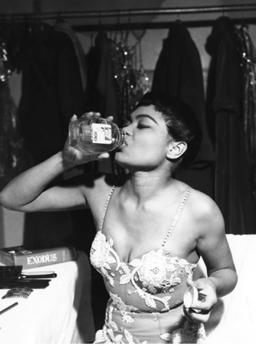 Eartha Kitt backstage, 1959,