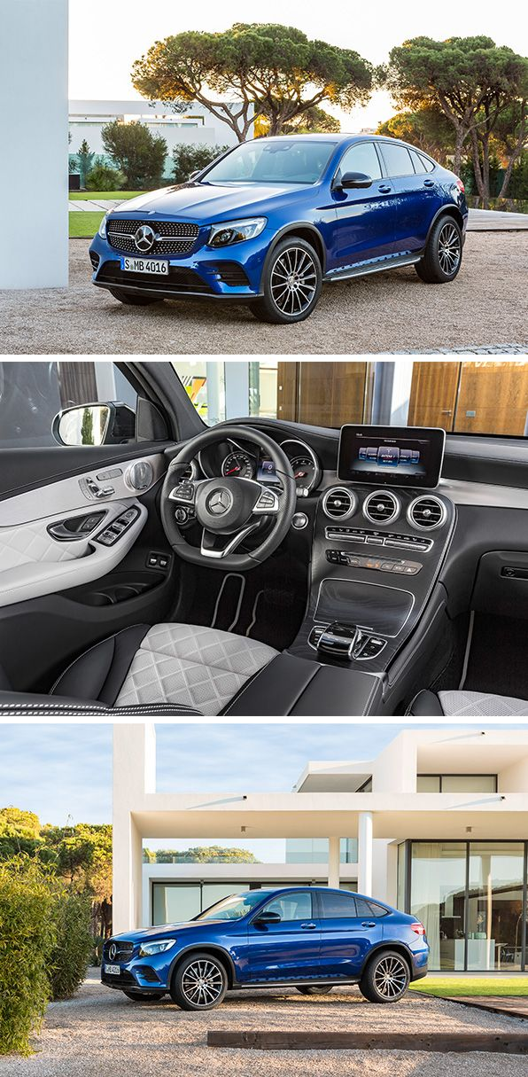 """The new Mercedes-Benz GLC Coupé. Sports coupé meets """"G"""": typical stylistic elements of a coupé united with the design language of current SUV models."""