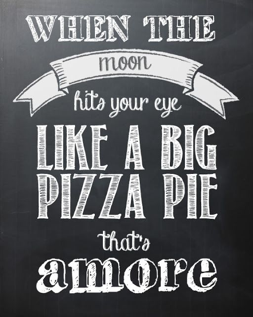 when the moon hits your eye like a beautiful pie thats AMORE! ♥