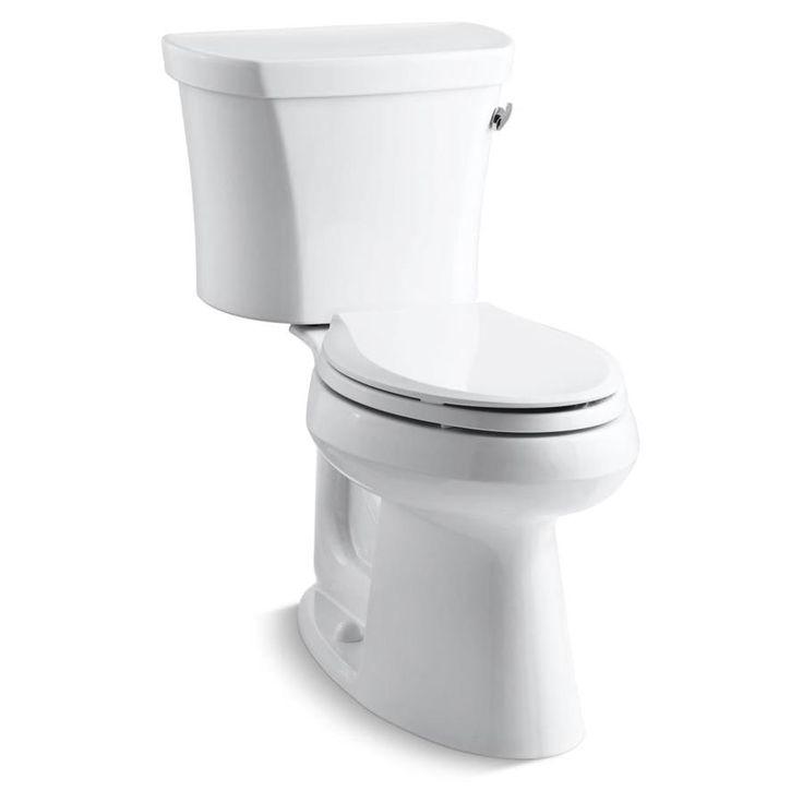 Kohler highline white watersense labeled elongated comfort