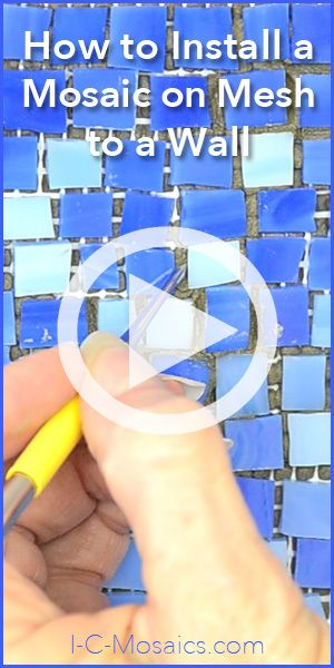 Using mosaic mesh to create a mosaic makes creation easy, but what about installing it on a wall? This video shows how to do it