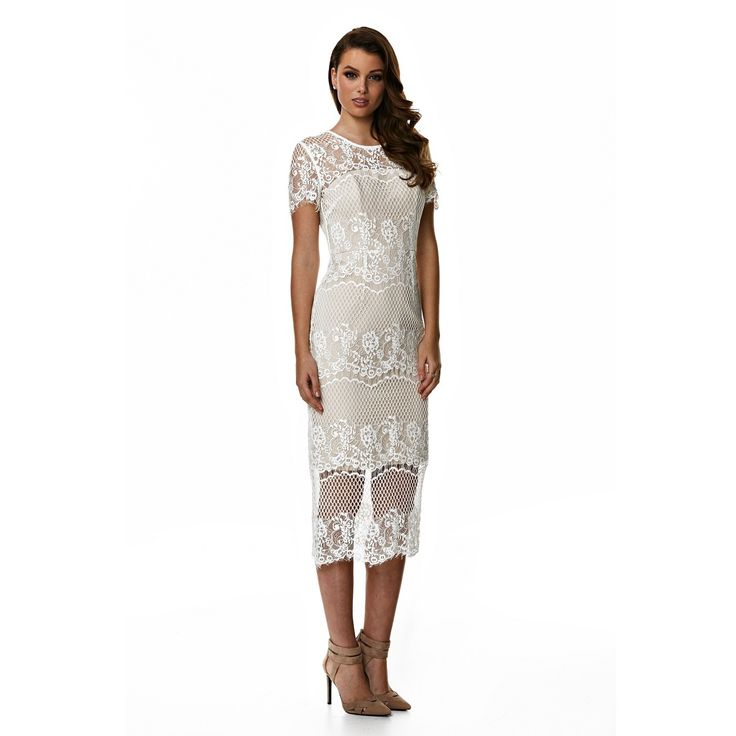 Langhem Milan White Cocktail Dress