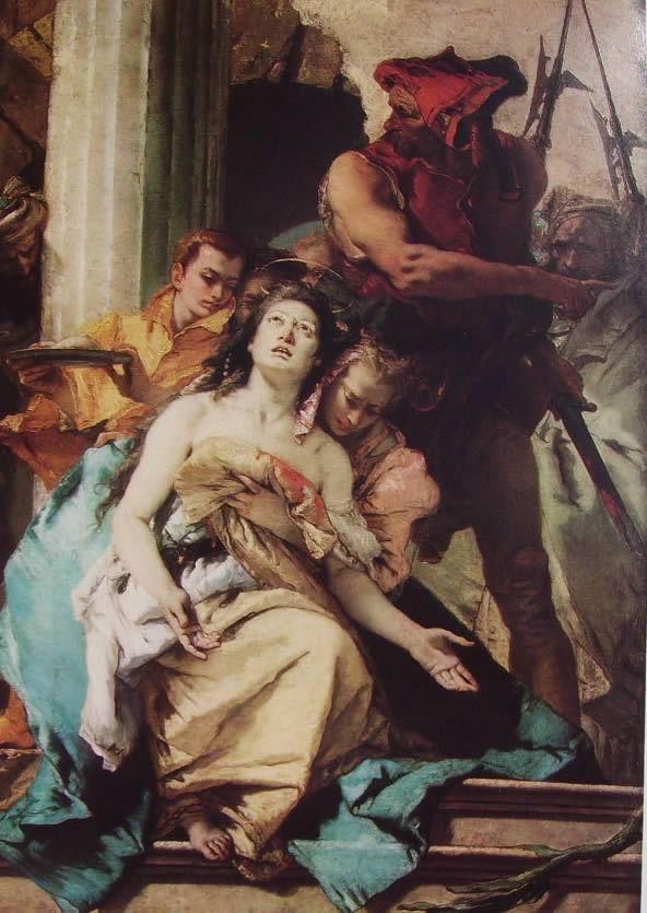 Il Tiepolo: Il martirio di Sant'Agata