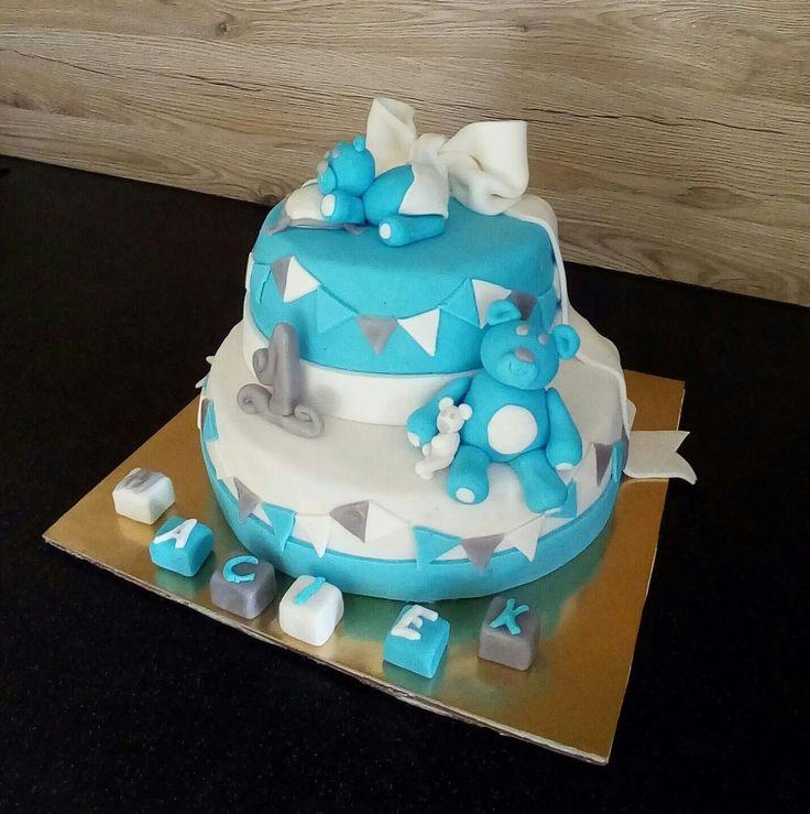 Tort na pierwsze urodziny misie