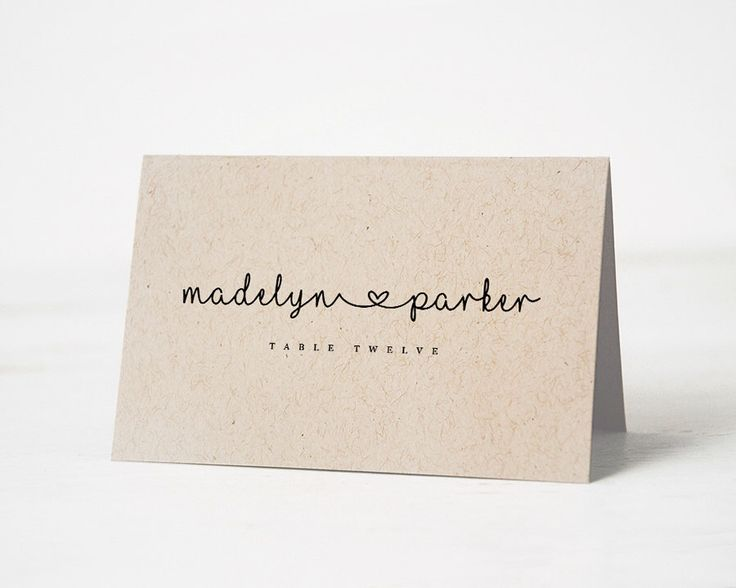 17 Best ideas about Place Card Template on Pinterest | Place card ...