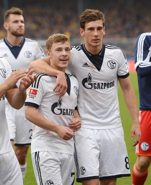 Fussball Saison 20132014 1 Bundesliga 9 Spieltag Eintracht Braunschweig FC Schalke 04 Jubel Leon Goretzka re und Max Meyer