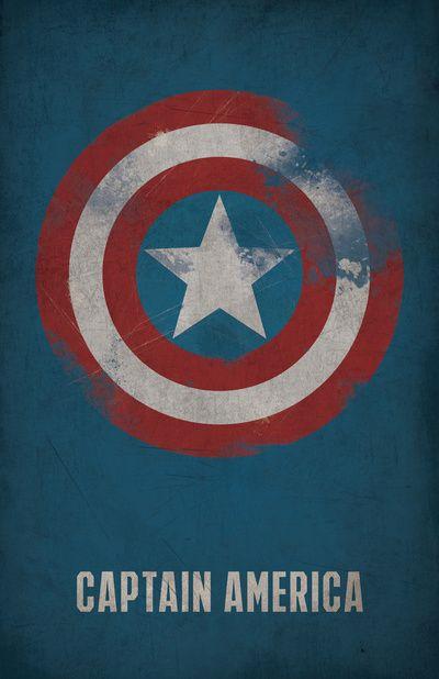 Marvel Captain America Minimalist Art Print