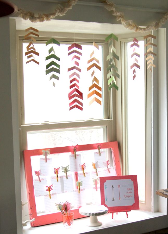+++revisit this site+++arrow and bow baby shower - arrow garland
