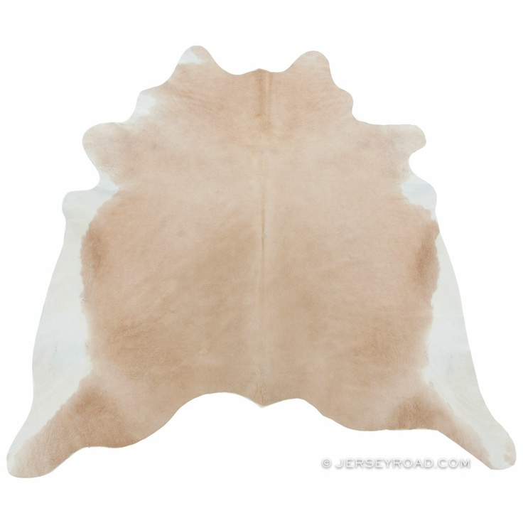 light palomino cowhide rug