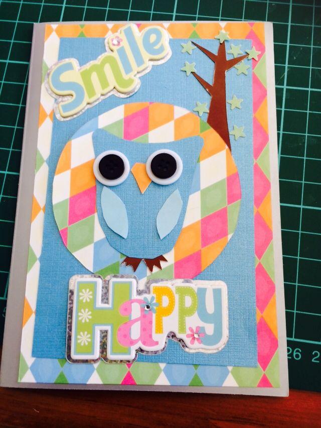 Tahlia's card. Sept school holidays 2014