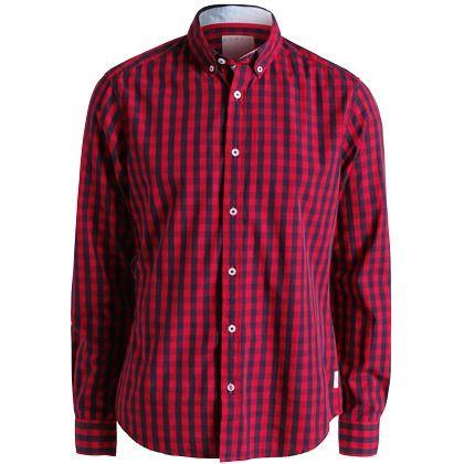 Modisches rotes Hemd von Casual. Das Karomuster macht das Langarmhemd zu einem absoluten Hingucker! - ab 39,99 €