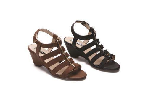 Brown Or Black Gladiator Sandals-  £22.99