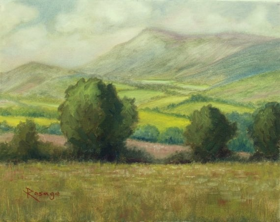 Original Oil by Bernie Rosage Jr Irish Landscape Tipperary Ireland by artisticrelease, $375.00