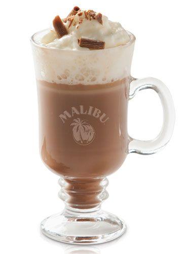 Mali Co-Co ~ 50ml Malibu, Hot Chocolate, Chocolate Sprinkles & Whipped Cream ...Mix the Malibu into ready-made hot chocolate and top with whipped cream and chocolate sprinkles.