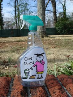 """This Quiet spray is too cute. It is a completely empty bottle that only makes a quiet """"whisper"""" sound. When students are sprayed, they must then be quiet.#0690"""