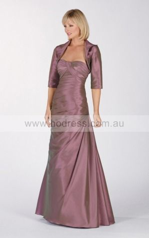 None Floor-length Empire A-line Taffeta Formal Dresses aiga307046