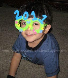 Kids New Year's glasses craft
