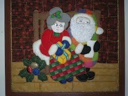 cuadros en falso patchwork navideños - Buscar con Google
