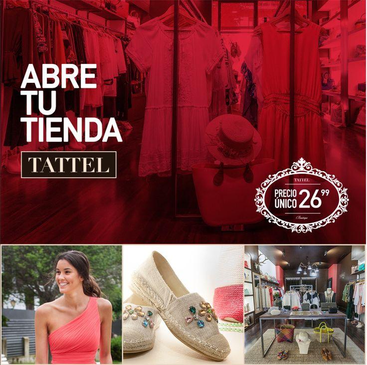 Anuncio para TATTEL, franquicia de moda de mujer de precio único