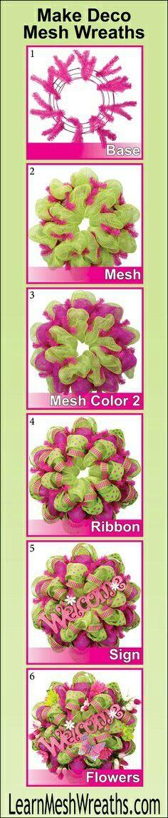Deco mesh wreath DIY