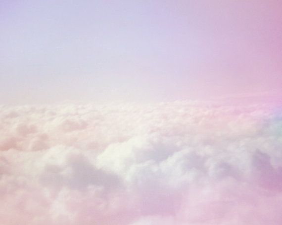 Dreamy Pastel Clouds Sky Photo Print 8x10 by SnapshotsandMacarons on We Heart It