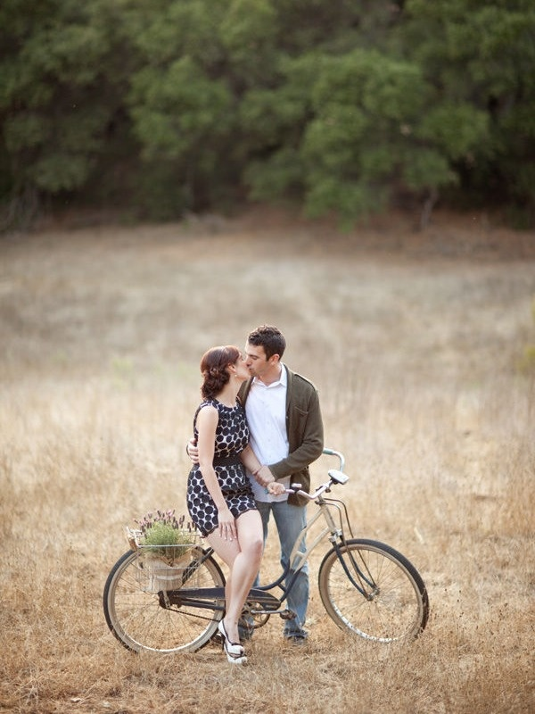 I just love ladies in dresses.  If you have the legs- go for it.  The bike is oh-so-cute too.  LOVES!