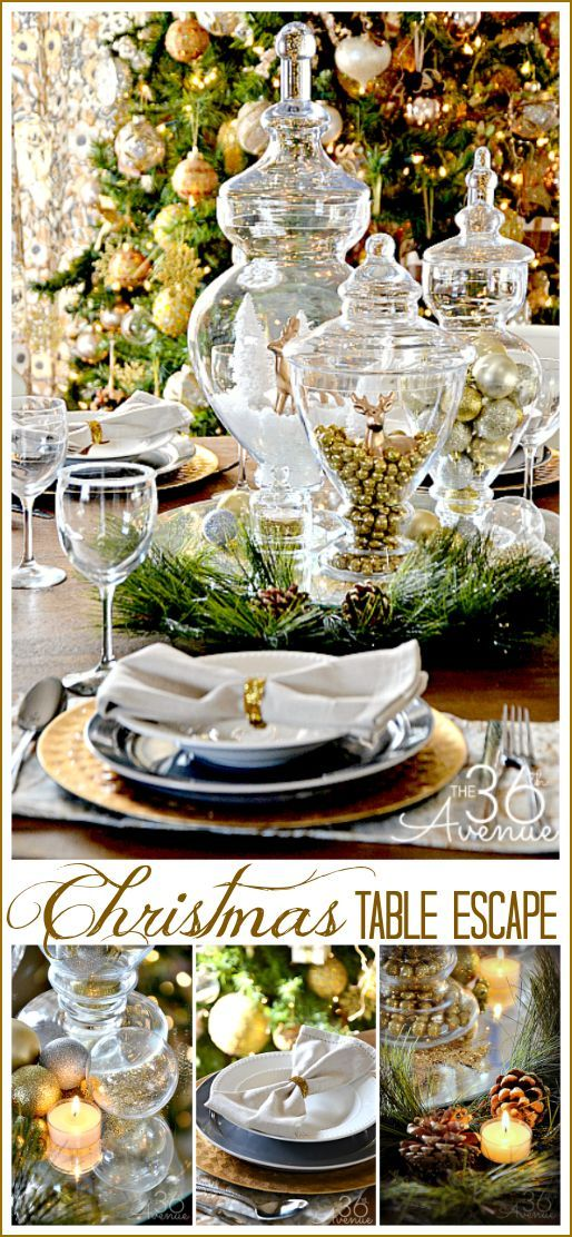 Christmas Table Escape Ideas using things that you may already have!