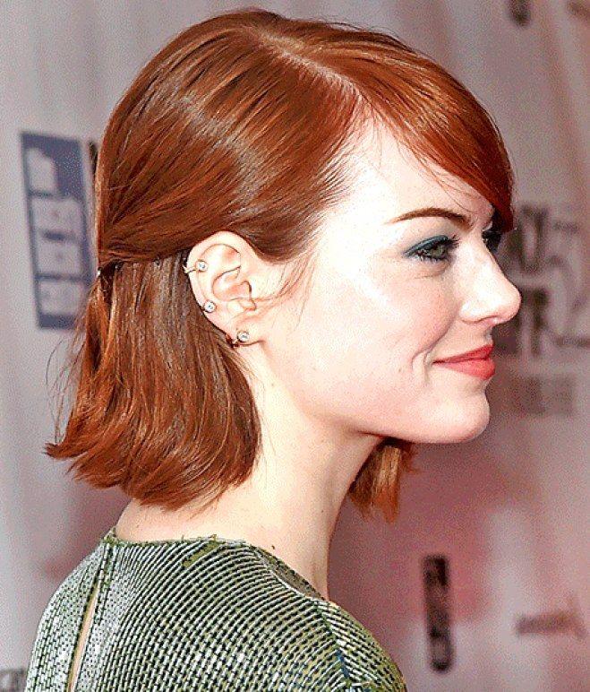 Tagli per capelli crespi: carrè e frangetta laterale