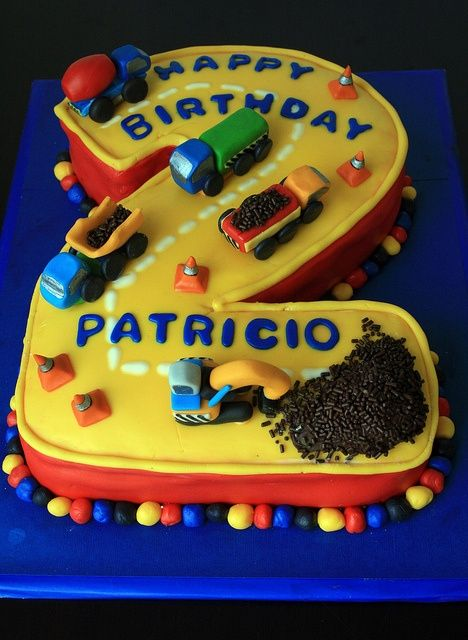 Truck themed birthday cake