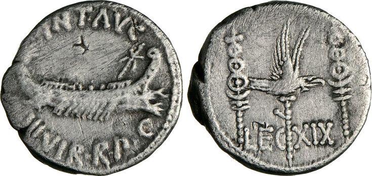 NumisBids: Numismatica Varesi s.a.s. Auction 65, Lot 128 : MARC'ANTONIO (32-31 a.C.) Denario, leg. XIX. B. 133 Syd. 1242 ...