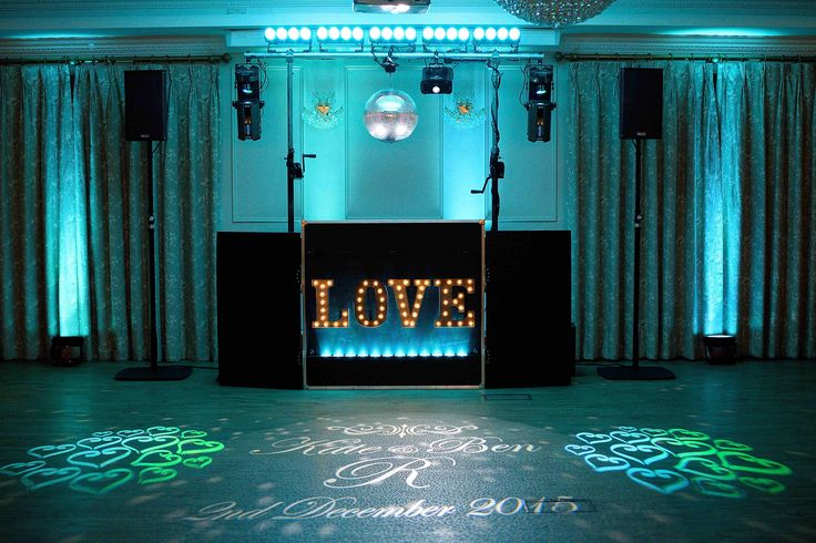 Stylish lighting adds an extra touch of class to your wedding - DJ Martin Lake